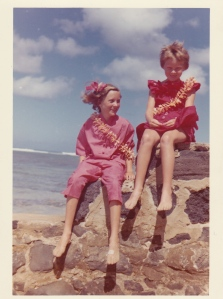 Mom (right) and her sister Wendy in Hawaii in the sixties.